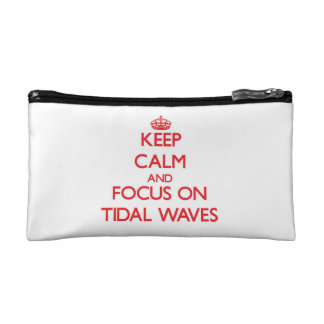 Keep Calm and focus on Tidal Waves Cosmetic Bags