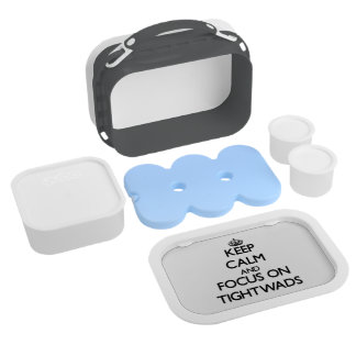 Keep Calm and focus on Tightwads Yubo Lunchboxes