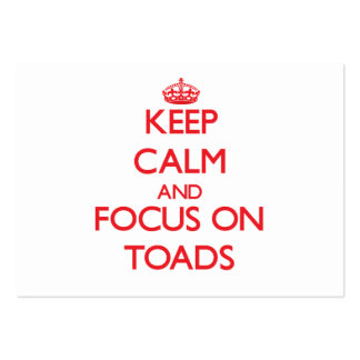 Keep calm and focus on Toads Large Business Cards (Pack Of 100)