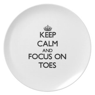 Keep Calm and focus on Toes Party Plate
