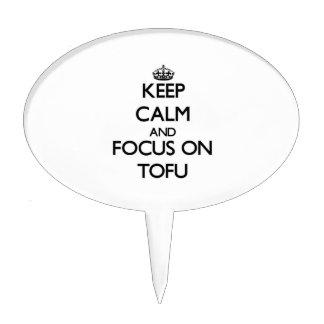 Keep Calm and focus on Tofu Cake Picks