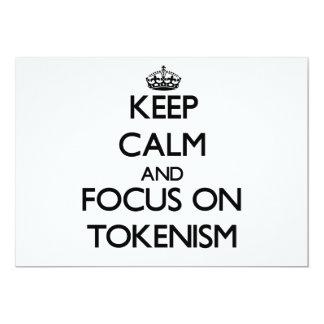 Keep Calm and focus on Tokenism Custom Invite