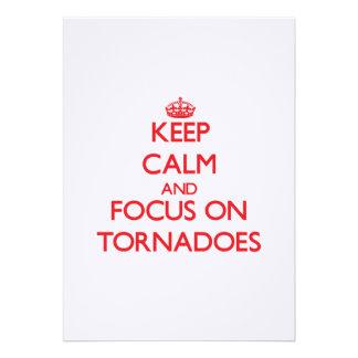 Keep Calm and focus on Tornadoes Custom Invites