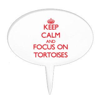 Keep calm and focus on Tortoises Cake Picks