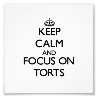 Keep Calm and focus on Torts Photo Print