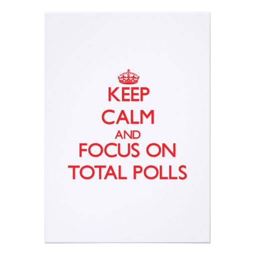 Keep Calm and focus on Total Polls Personalized Invite