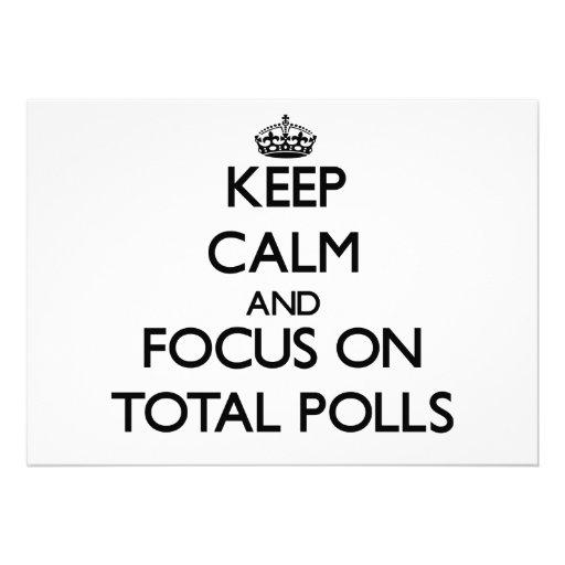 Keep Calm and focus on Total Polls Custom Invites