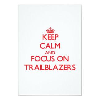 Keep Calm and focus on Trailblazers 3.5x5 Paper Invitation Card