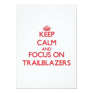 Keep Calm and focus on Trailblazers 5x7 Paper Invitation Card