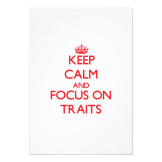 Keep Calm and focus on Traits Personalized Announcements
