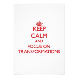 Keep Calm and focus on Transformations Custom Invitations