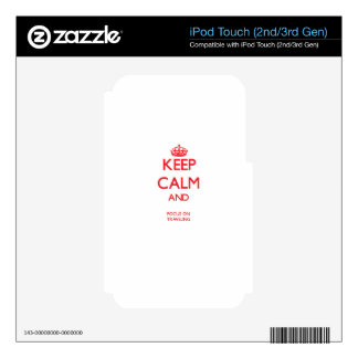 Keep calm and focus on TRAVELING Skin For iPod Touch 2G