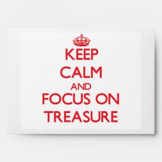 Keep Calm and focus on Treasure Envelope