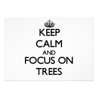 Keep Calm and focus on Trees Custom Invitations