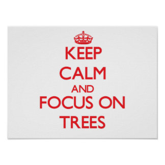 Keep Calm and focus on Trees Poster