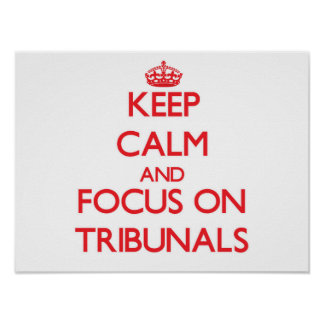 Keep Calm and focus on Tribunals Poster