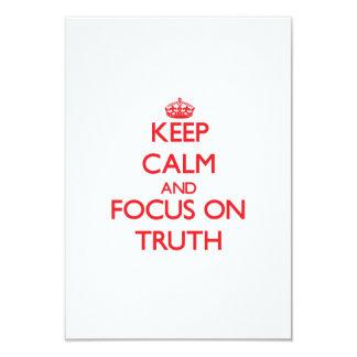Keep Calm and focus on Truth Custom Invites