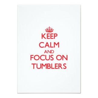 Keep Calm and focus on Tumblers Custom Invitation