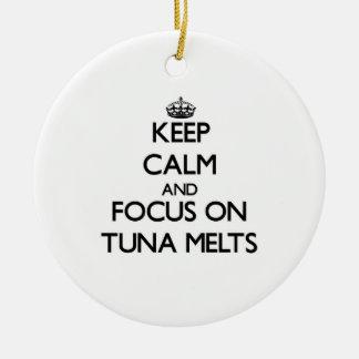 Keep Calm and focus on Tuna Melts Christmas Tree Ornament