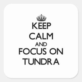 Keep Calm and focus on Tundra Sticker