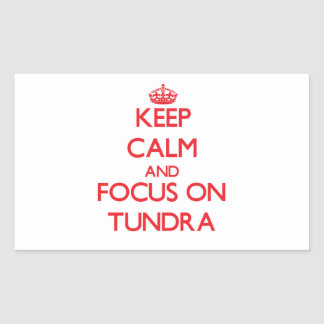 Keep Calm and focus on Tundra Stickers