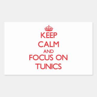 Keep Calm and focus on Tunics Sticker