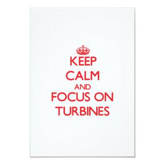 Keep Calm and focus on Turbines Invitation