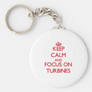 Keep Calm and focus on Turbines Key Chain