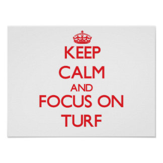 Keep Calm and focus on Turf Poster