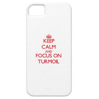 Keep Calm and focus on Turmoil iPhone 5 Covers