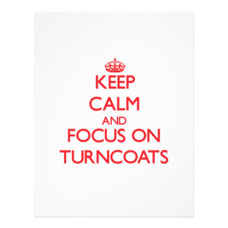 Keep Calm and focus on Turncoats Personalized Flyer
