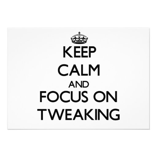 Keep Calm and focus on Tweaking Personalized Announcements