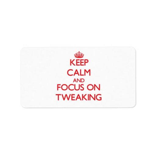 Keep Calm and focus on Tweaking Custom Address Label