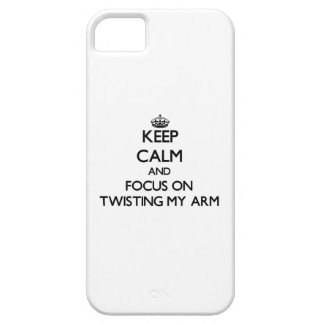 Keep Calm and focus on Twisting My Arm iPhone 5 Cover