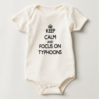 Keep Calm and focus on Typhoons Baby Bodysuit