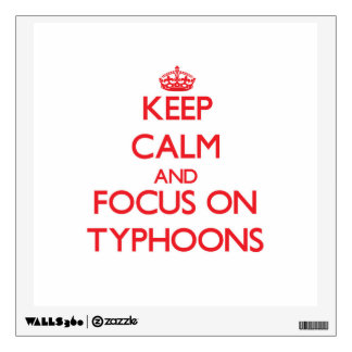 Keep Calm and focus on Typhoons Room Sticker