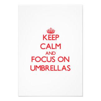 Keep Calm and focus on Umbrellas Custom Invites