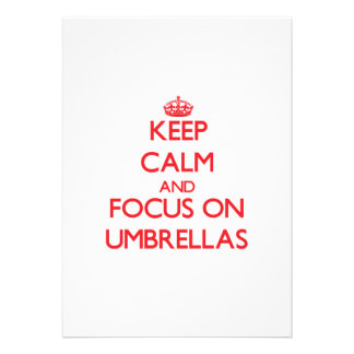 Keep Calm and focus on Umbrellas Personalized Invite
