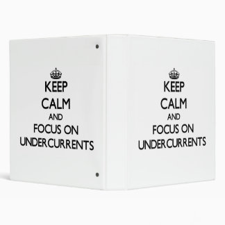 Keep Calm and focus on Undercurrents Binder