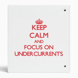Keep Calm and focus on Undercurrents Binders