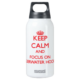 Keep calm and focus on Underwater Hockey 10 Oz Insulated SIGG Thermos Water Bottle