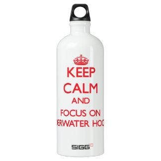 Keep calm and focus on Underwater Hockey SIGG Traveler 1.0L Water Bottle