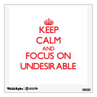 Keep Calm and focus on Undesirable Room Graphics