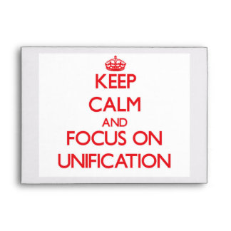 Keep Calm and focus on Unification Envelopes