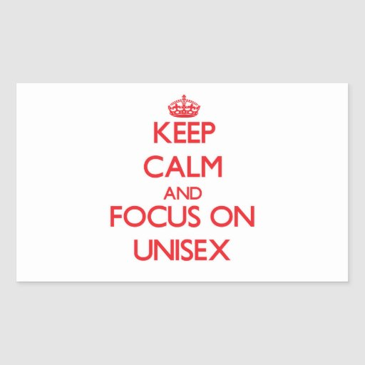 Keep Calm and focus on Unisex Stickers