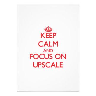 Keep Calm and focus on Upscale Card