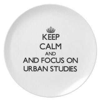 Keep calm and focus on Urban Studies Dinner Plates