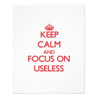 Keep Calm and focus on Useless Flyers