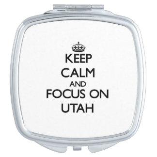 Keep Calm and focus on Utah Makeup Mirror