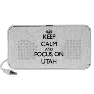 Keep Calm and focus on Utah Travelling Speaker
